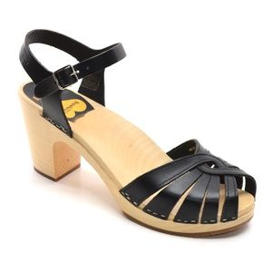 Swedish Hasbeen Fredrica Wooden Sandals 41 / 11